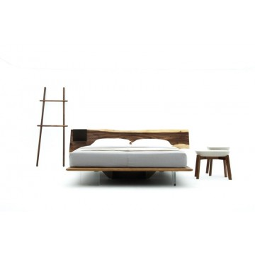 Brighem Bedframe + Steel Side Table (Queen)
