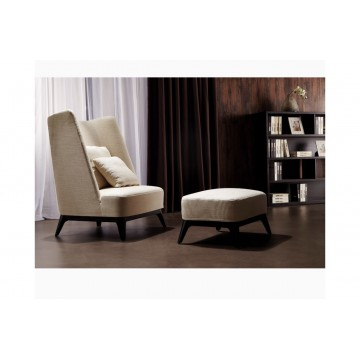 Maro Lounge Chair + Stool